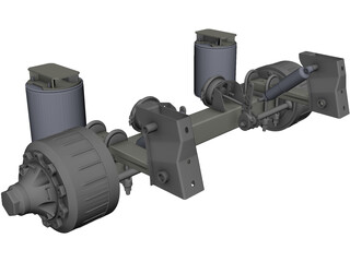 Trailer Axle CAD 3D Model