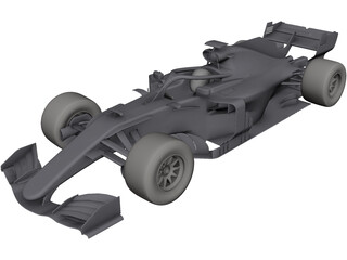 Mercedes Formula One CAD 3D Model