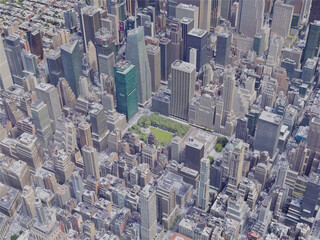 New York City, Midtown Manhattan, USA (2019) 3D Model