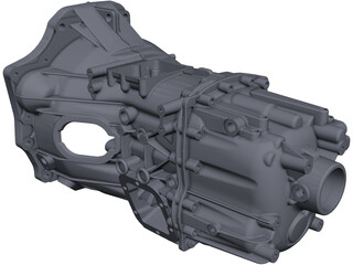 ZF Truck Transmission CAD 3D Model