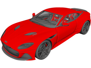 Aston Martion DBS Superleggera (2019) 3D Model