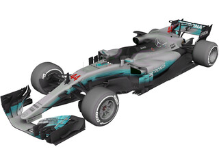 Mercedes-AMG F1 W08 EQ Power 3D Model