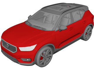 Volvo XC40 (2020) 3D Model 3D Preview
