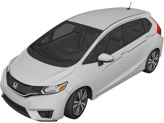 Honda Fit [Jazz] (2017) 3D Model