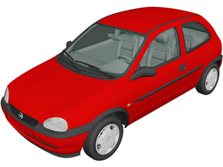 Opel Corsa 3-door (1998) 3D Model
