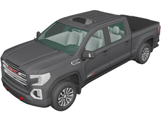 GMC Sierra 1500 Crew Cab (2019) 3D Model