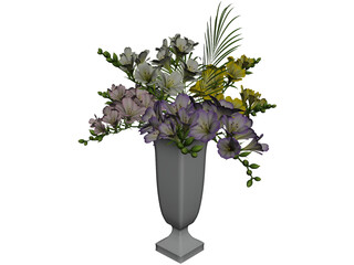 Freesia Flowers 3D Model