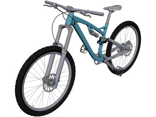 Trail Bike CAD 3D Model
