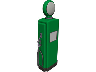 Gas Pump 3D Model 3D Preview