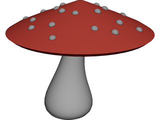 Magic Mushroom 3D Model