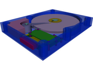 HDD 3.5 Inch 3D Model 3D Preview