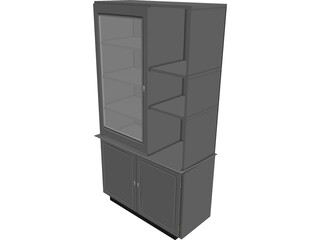 Cabinet Wall 3D Model 3D Preview