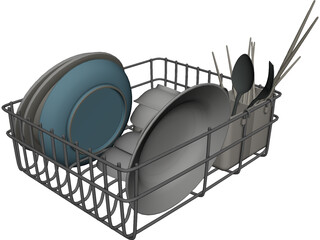 Dish Set 3D Model 3D Preview