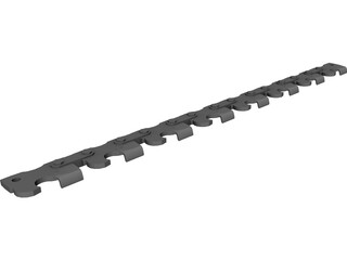 Chain Saw Teeth 3D Model