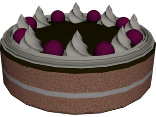 Cake Round 3D Model 3D Preview