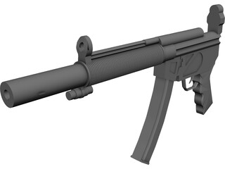 Heckler&Koch MP5SD 3D Model