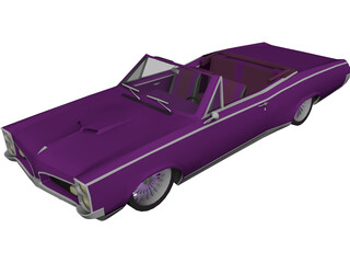 Pontiac GTO Convertible (1967) 3D Model