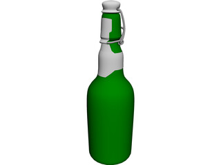Grolsch Beer Bottle 3D Model