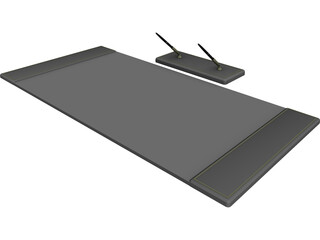 Desk Pad Set 3D Model
