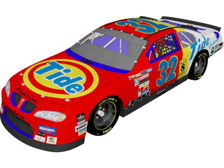 Nascar Stock Car 3D Model 3D Preview