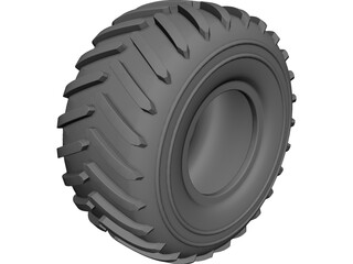 Green Area Tyre 33 inch 3D Model