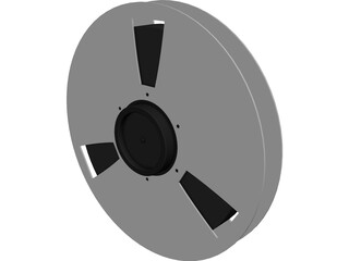 Ampex Tape Reel 3D Model