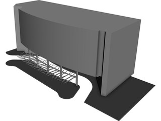 Building Canopy 3D Model 3D Preview