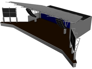 Stage Canopy 3D Model