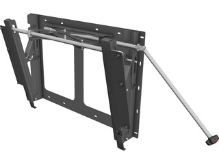 LCD TV Wall Stand 3D Model