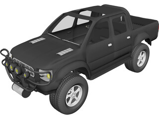 Toyota Hilux [Tuned] 3D Model
