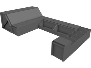 Case Wall 3D Model 3D Preview
