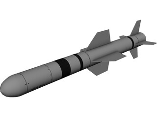 AGM-84A Harpoon 3D Model