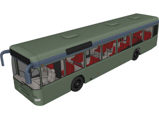City Bus 3D Model 3D Preview