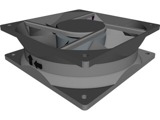 Axial Fan 3D Model 3D Preview