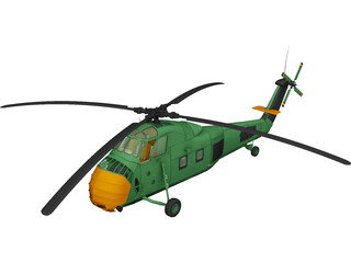 Sikorsky UH-34 Choctaw 3D Model
