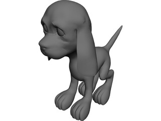 Cartoon Puppy 3D Model
