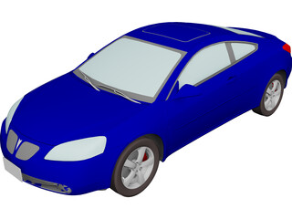 Pontiac G6 Coupe (2007) 3D Model