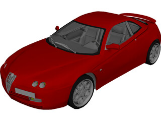 Alfa Romeo GTV 3D Model 3D Preview