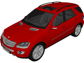 Mercedes-Benz ML500 (2007) 3D Model