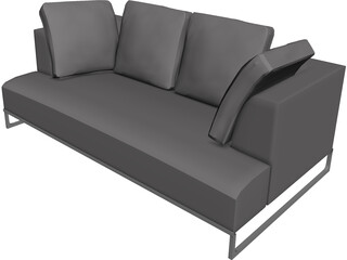 B&B Couch 3D Model