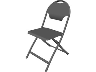 Folding Chair 3D Model 3D Preview