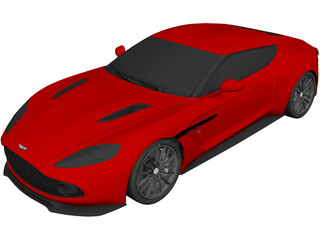 Aston Martin V12 Zagato 3D Model