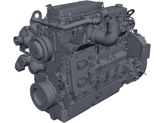 Cummins QSB 6.7 Engine CAD 3D Model