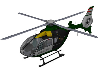 Eurocopter EC-135 Guardia Civil 3D Model