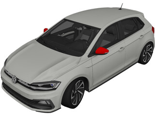 Volkswagen Polo (2018) 3D Model