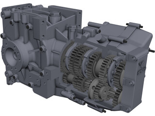 Hewland LD200 Gearbox CAD 3D Model