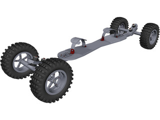 Mountainboard CAD 3D Model