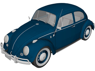 Volkswagen Beetle (1962) 3D Model