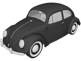 Volkswagen Beetle (1948) 3D Model