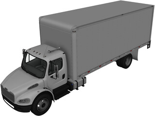 Freightliner Box Truck (2012) 3D Model